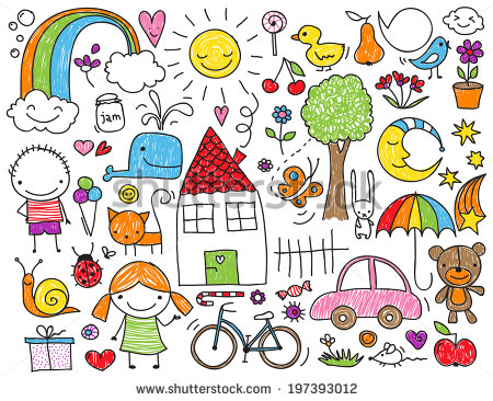 450x366 Collection Of Cute Children's Drawings Of Kids, Animals, Nature