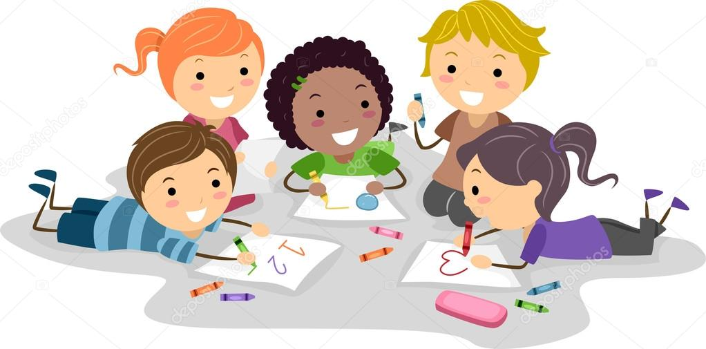 1022x505 Kids Drawing With Crayons Stock Photo Lenmdp