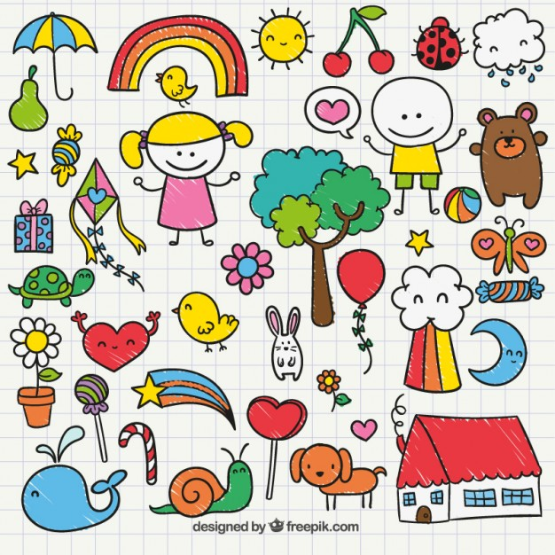 626x626 Cute Childrens Drawing Vector Free Download