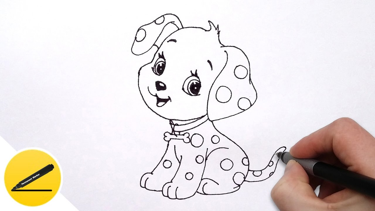 1280x720 How To Draw A Dog (Puppy) For Kids