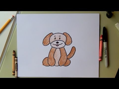 480x360 How To Draw A Dog Drawing A Cartoon Dog