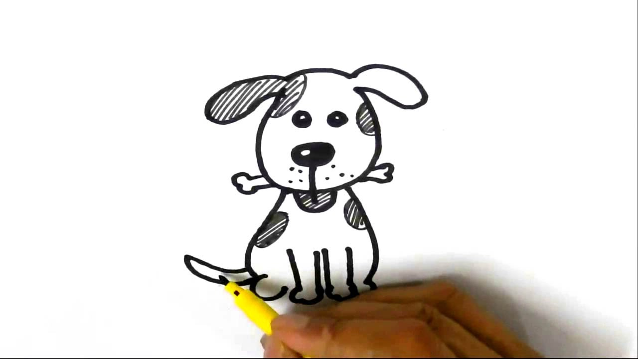 1280x720 How To Draw Cute Dog Step By Step For Children, Kids, Beginners