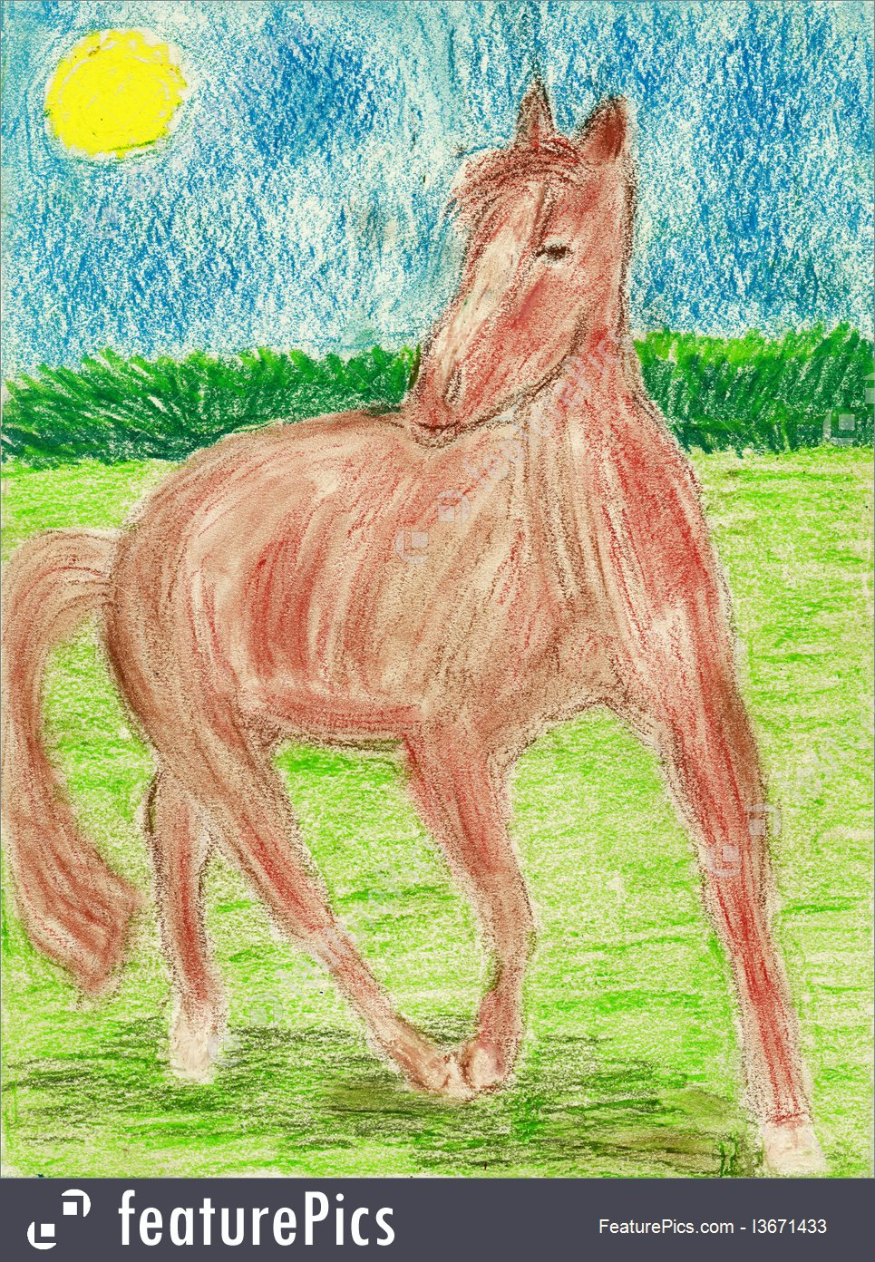 965x1392 Picture Of Horse Kids Drawings