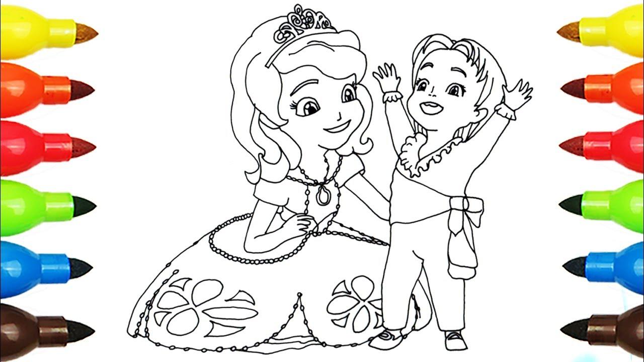 1280x720 Sofia The First Princess Sofia Coloring Page L Disney Junior
