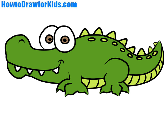 700x525 How To Draw Crocodile For Kids Howtodrawforkids