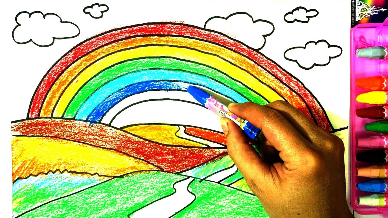 1280x720 How To Draw And Paint A Rainbow Kids, Drawing A Rainbow