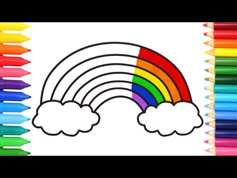 480x360 How To Draw A Rainbow Coloring Pages Kids Songs Learn Drawing