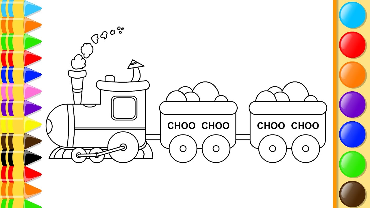 1280x720 How To Draw Choo Choo Train Drawing For Kids Learn Coloring