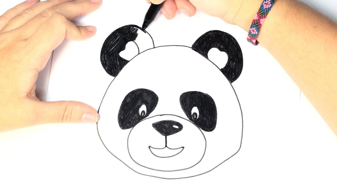 1280x720 Drawing Of Panda Face Panda Face Drawing Panda Bear Face Clipart