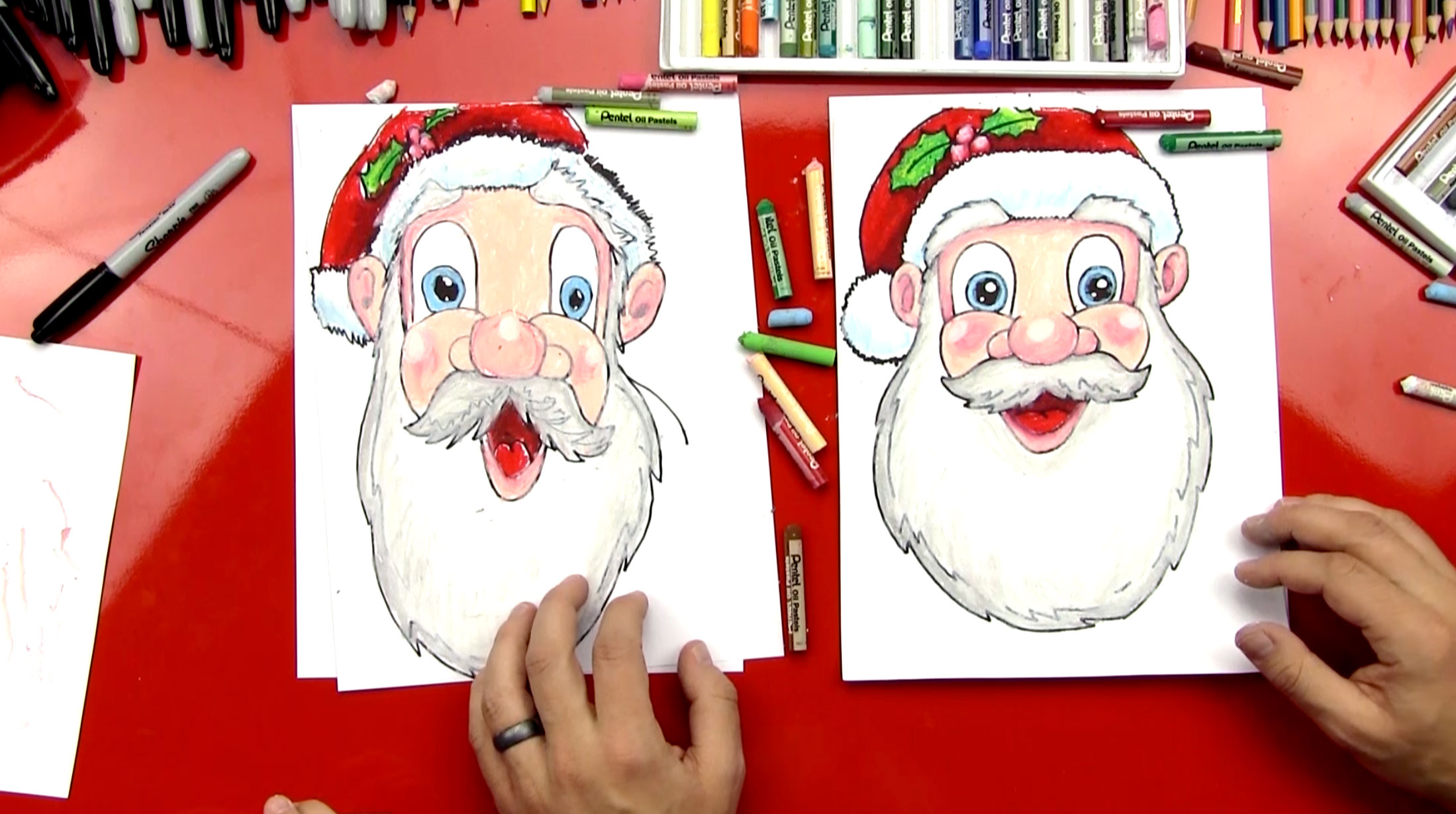 Line Drawing Santa Face : Kids face drawing at getdrawings free for personal use