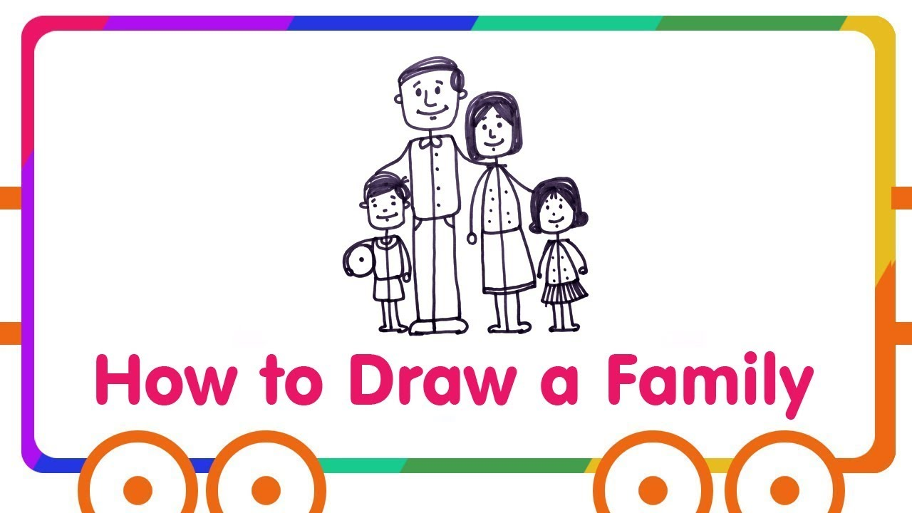 1280x720 Family Drawing For Kids