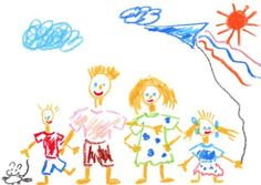 236x167 Kid Family Drawing