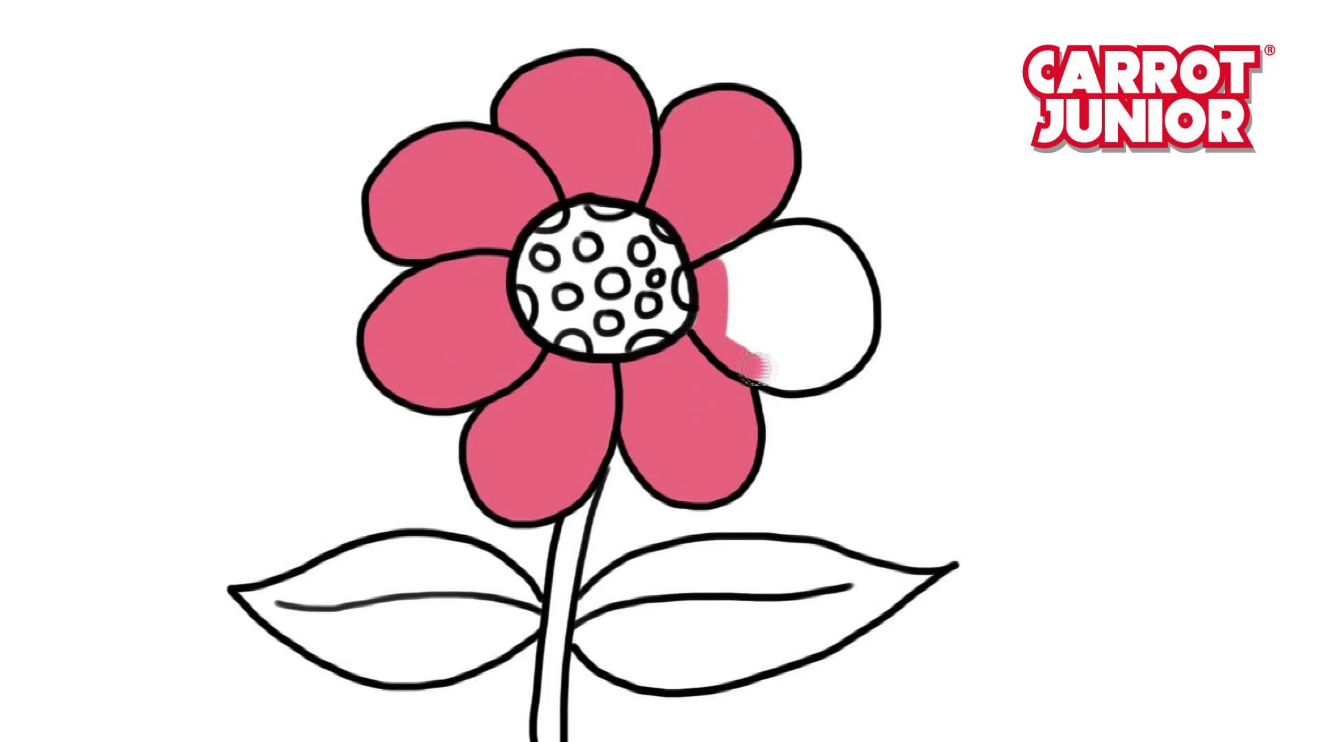 1920x1080 How To Draw Flower Super Simple Drawing For Kids