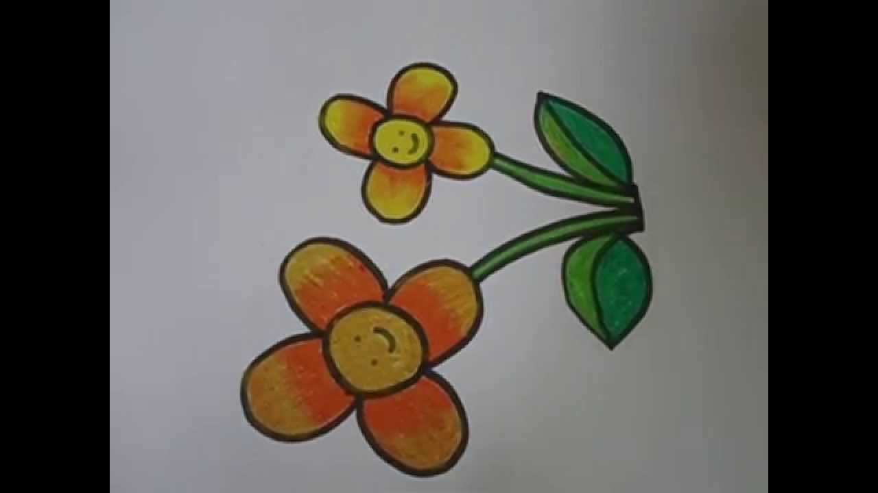 1280x720 Easy Drawing For Kids,,flower Drawing In Simple Steps