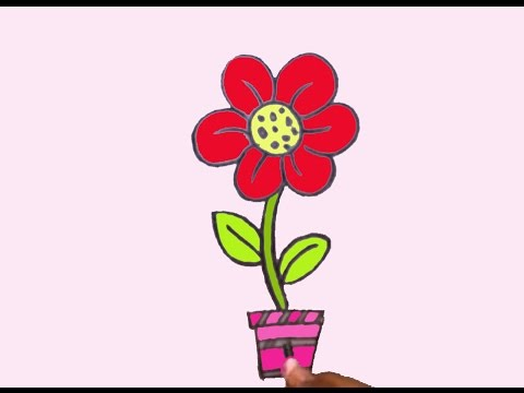 480x360 How To Draw Easy Flower For Kids