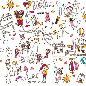 300x300 Child Drawing Vector