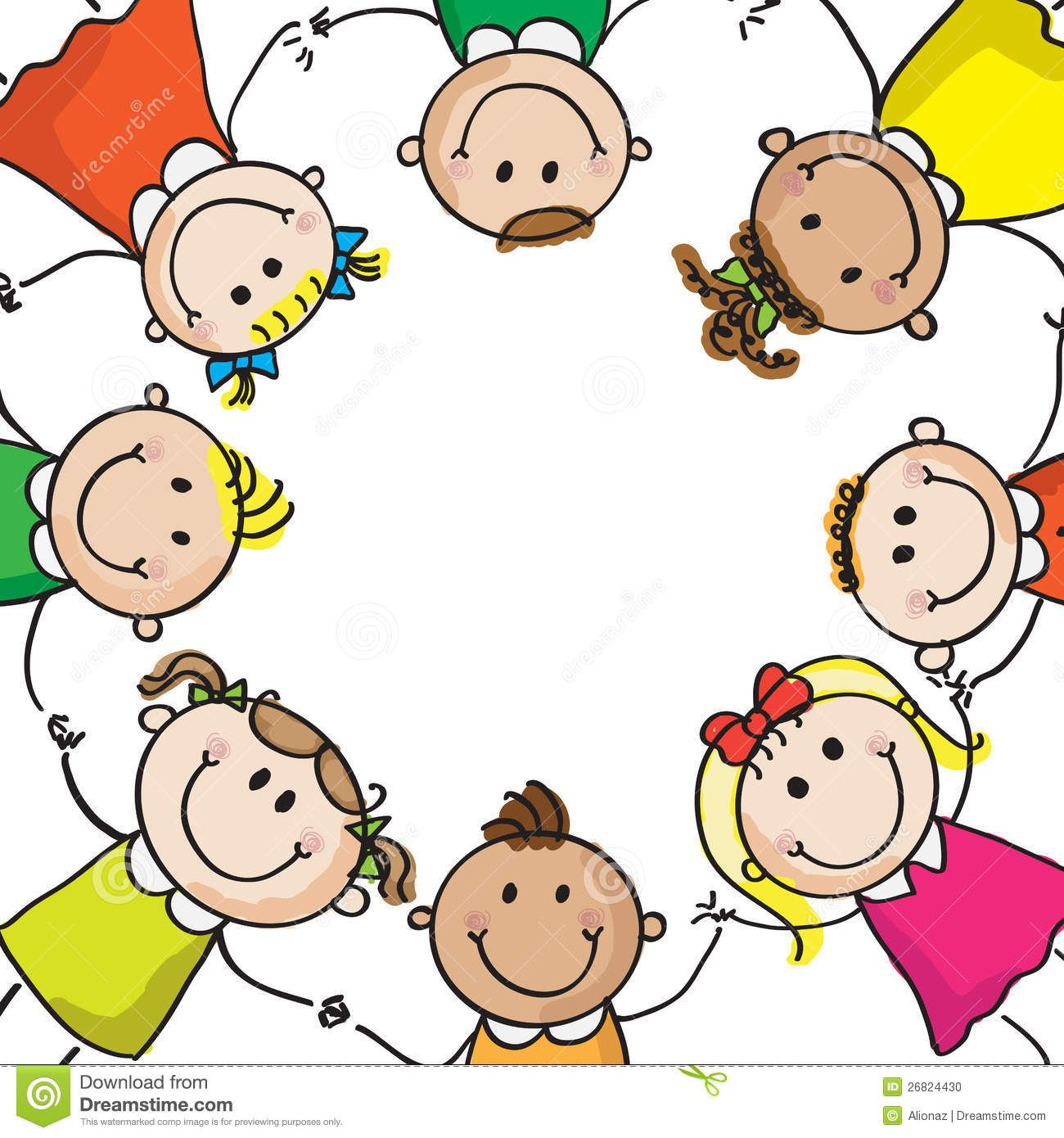 1300x1390 Children Holding Hands Drawing Multinational Kids Holding Hands