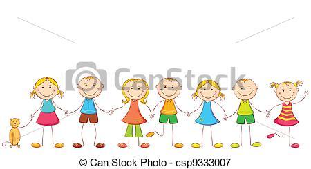 450x245 Children Holding Hands Drawing Vector