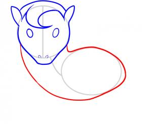 302x245 How To Draw How To Draw A Horse For Kids