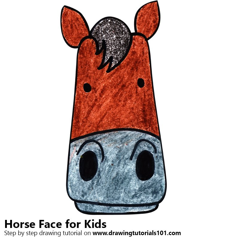 800x800 Learn How To Draw A Horse Face For Kids (Animal Faces For Kids
