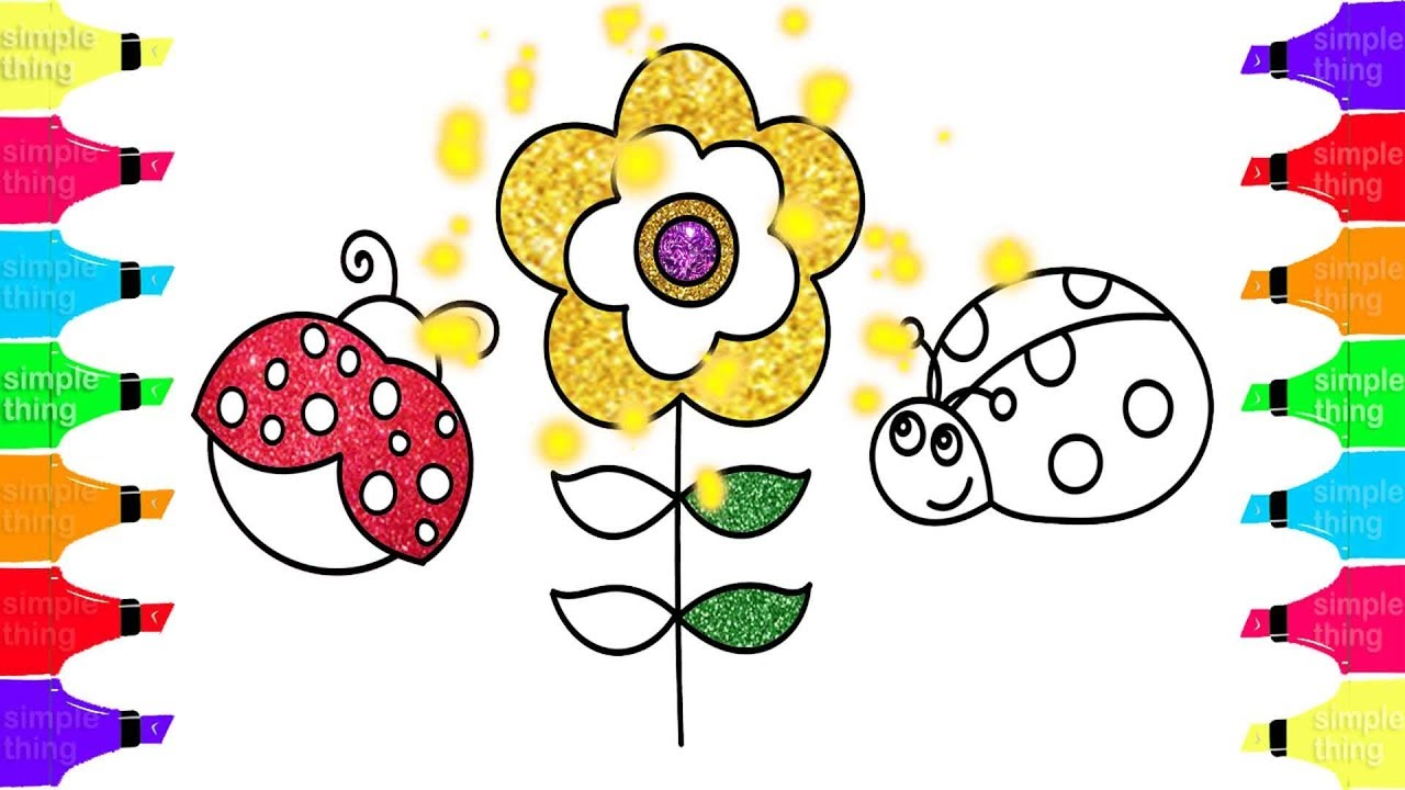 1280x720 Ladybug Drawing And Coloring For Kids Learn Colors With Simple