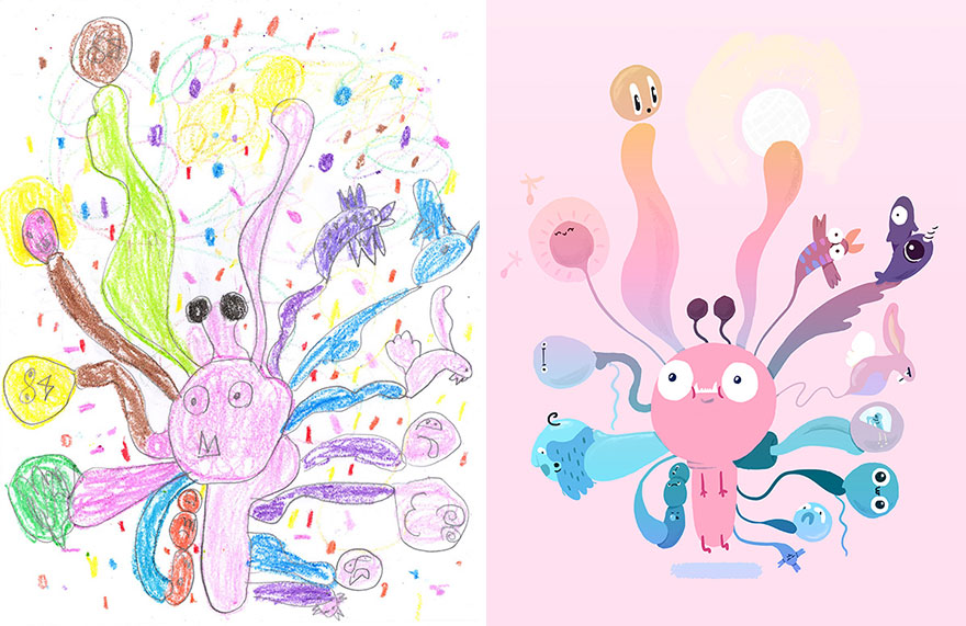 880x571 The Monster Project Recreates Kids Drawings From Artists Around
