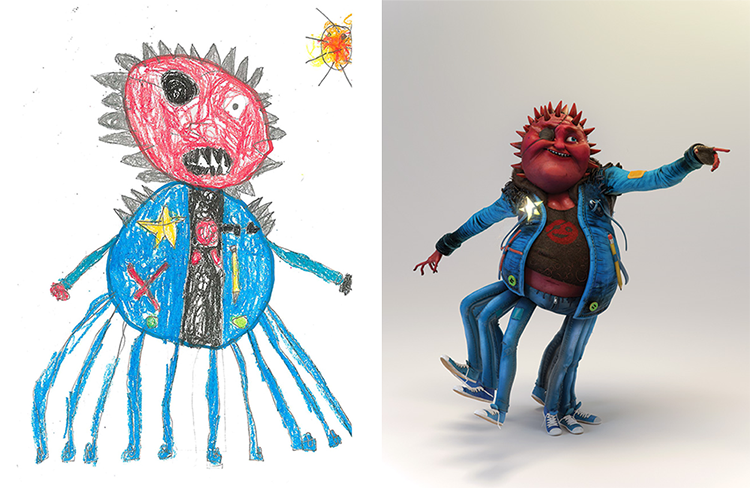 750x488 The Monster Project, Kids Draw Monsters And Then Artists Recreate
