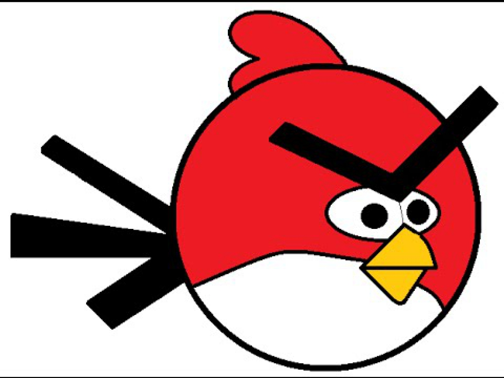 1024x768 How To Draw An Amazing Red Angry Birds Ms Paint For Kids