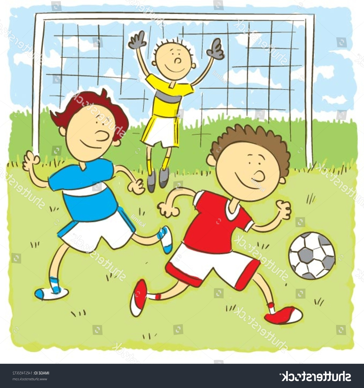 1500x1600 Some Boy Football Playing Drawing Kids Playing Soccerchilds Hand