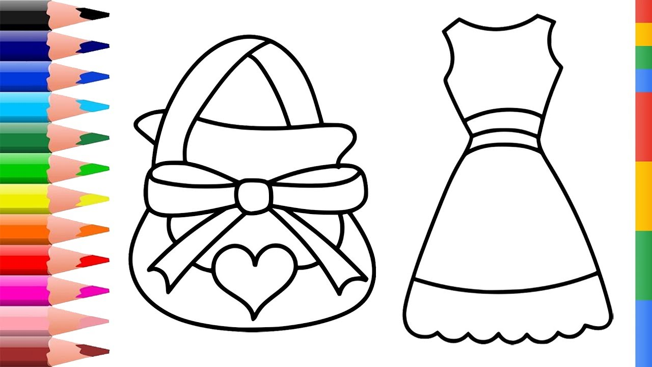 1280x720 Coloring Pages Collection For Kids Drawing Accessories For Girls