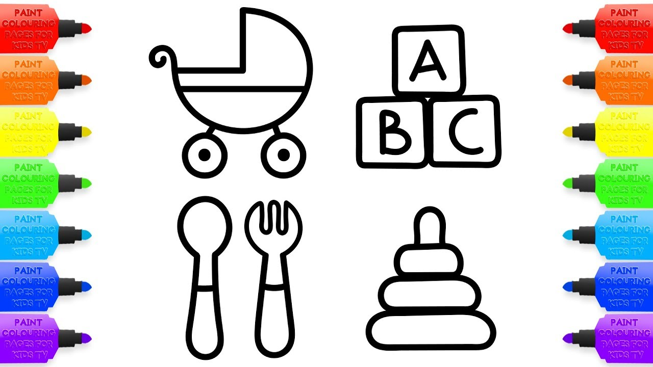 1280x720 Baby Toys Stroller Accessories For Dolls Coloring Pages