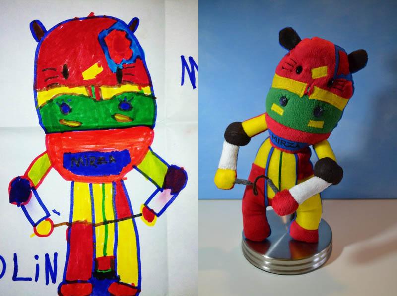 800x598 Creative Mom Turns Kids Drawings Into Plush Toys