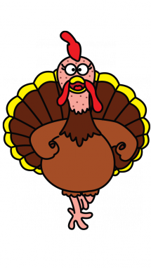 215x382 How To Draw A Turkey, Thanksgiving Day, Easy Step By Step Drawing