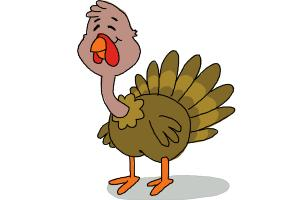 300x200 How To Draw A Turkey For Kids.how To Draw A Turkey For Kids. How