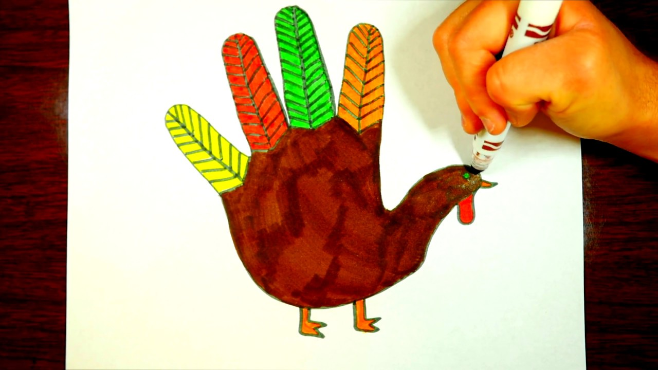 1280x720 Thanksgiving Turkey Drawing For Kids Easy, Step By Step
