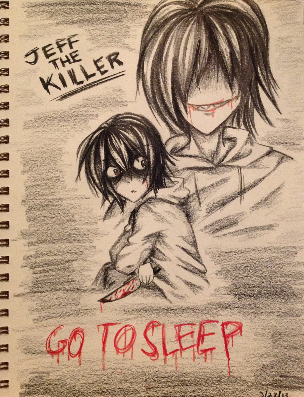 1024x1337 Jeff The Killer Drawing By Beautyandthebeer