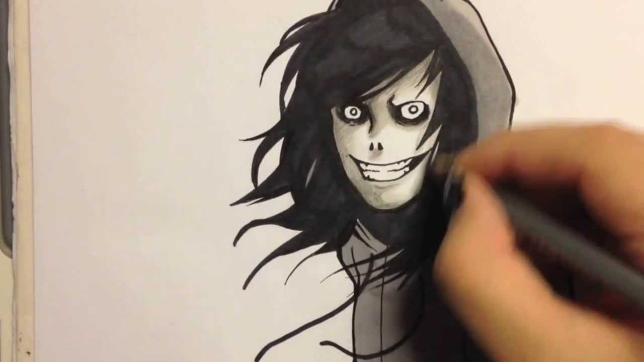 1280x720 Speed Drawing Jeff The Killer