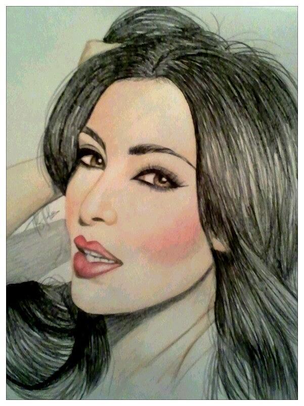 601x804 Kim Kardashian Drawing By Kipani Joi Hoskins
