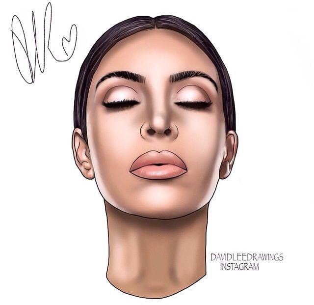 640x621 Kim Kardashian Digital Drawing!
