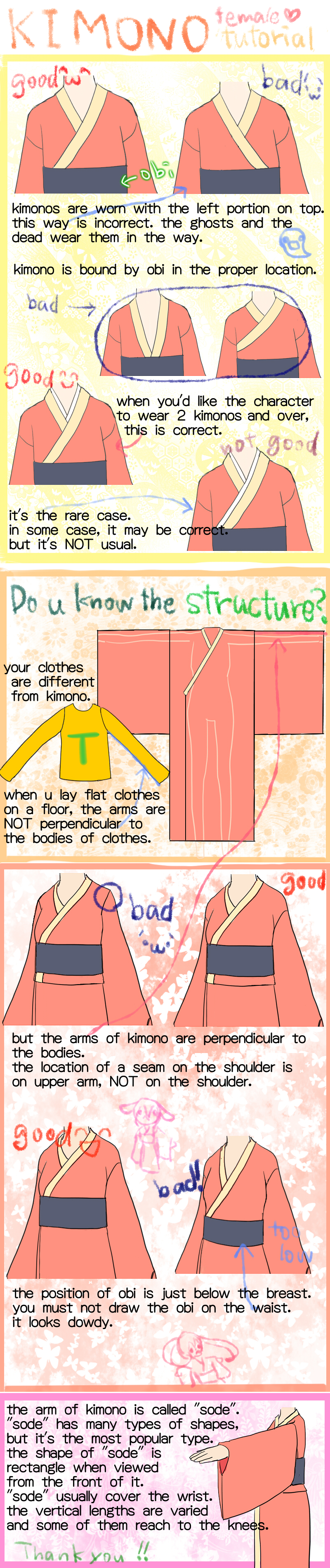 800x3800 How To Draw Proper Kimono By Saten0w0