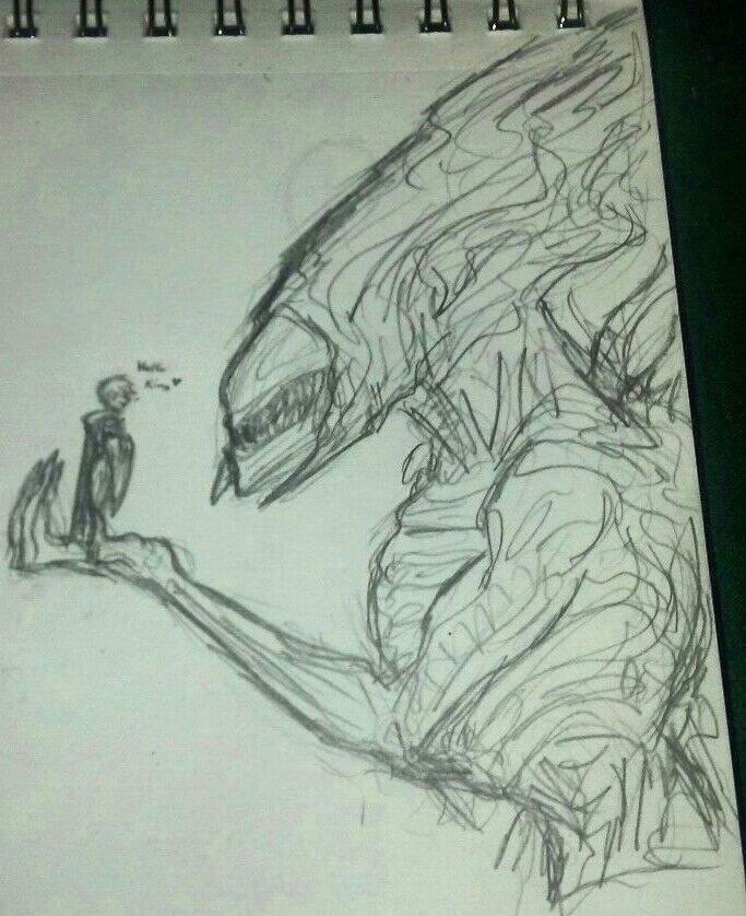 683x838 Alien Kind Doodles And Predailen Alien Versus Predator