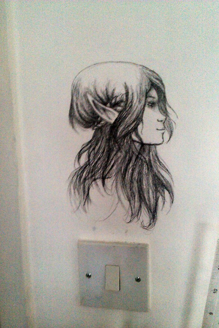 730x1095 Drawing My Bedroom Wall By Cazml