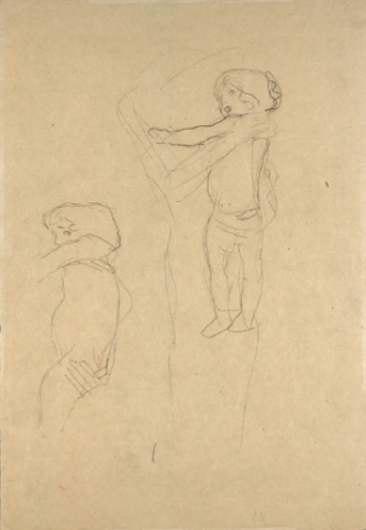 333x482 Klimt Mother And Child Drawing, Study For The Three Ages Drawing