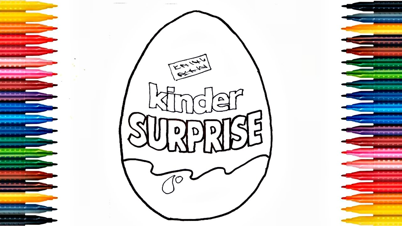 1280x720 Drawing Kinder Surprise How To Draw Surprise Egg And Painting