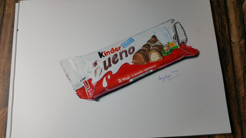3000x1688 Drawing A Kinder Bueno Chocolate Bar