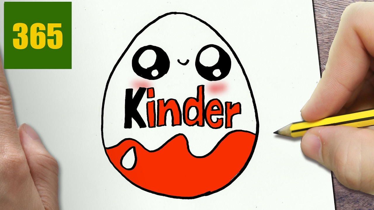 1280x720 How To Draw A Kinder Egg Cute, Easy Step By Step Drawing Lessons