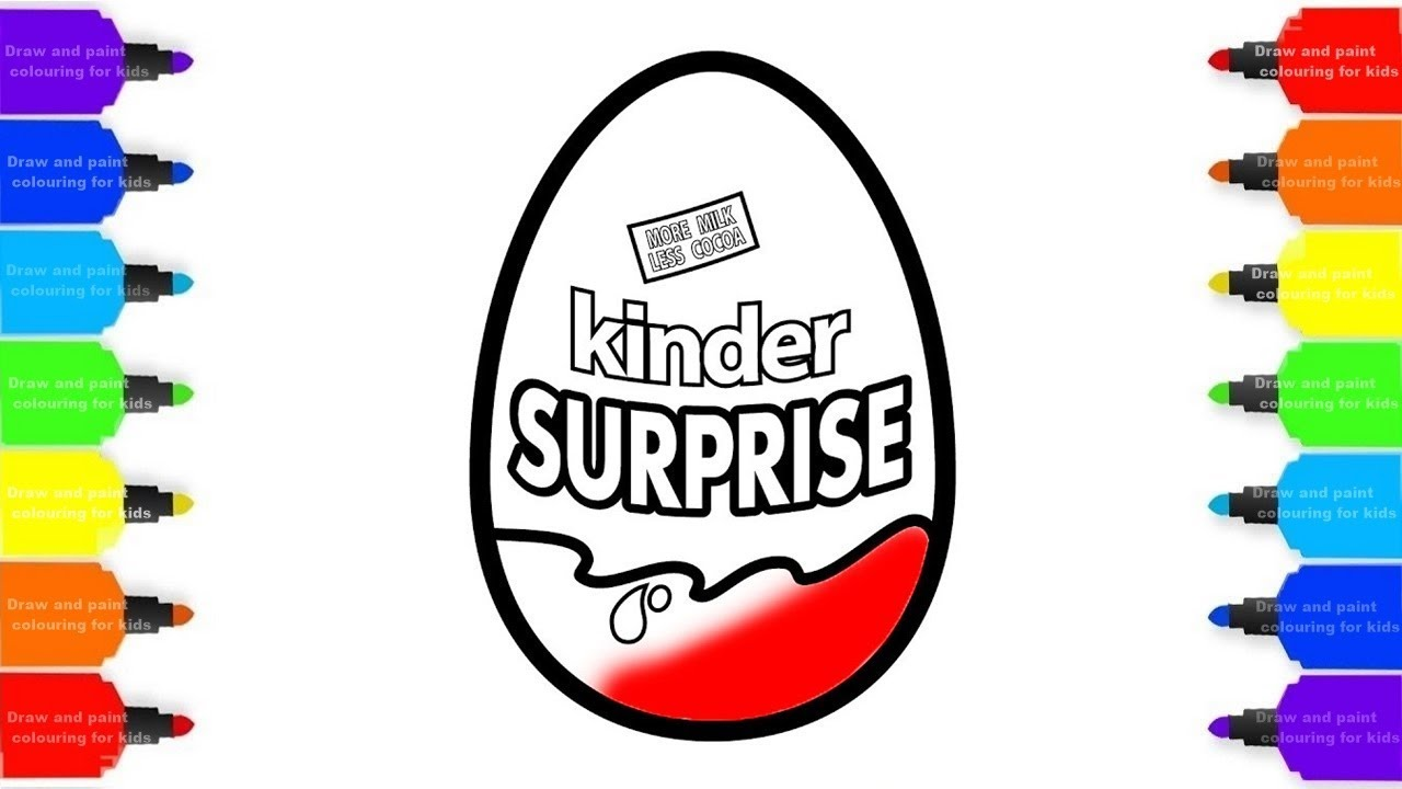 1280x720 How To Draw Eggs Kinder Surprise Coloring Pages Kids Drawing