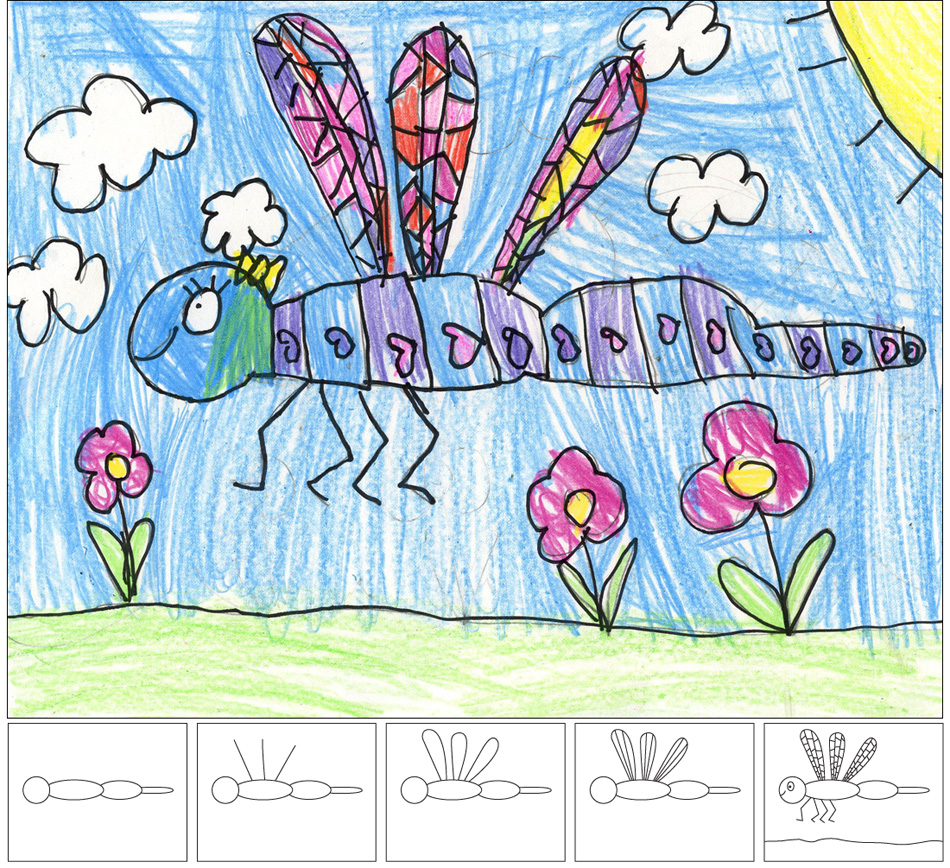 950x868 How To Draw A Dragonfly Art Projects For Kids