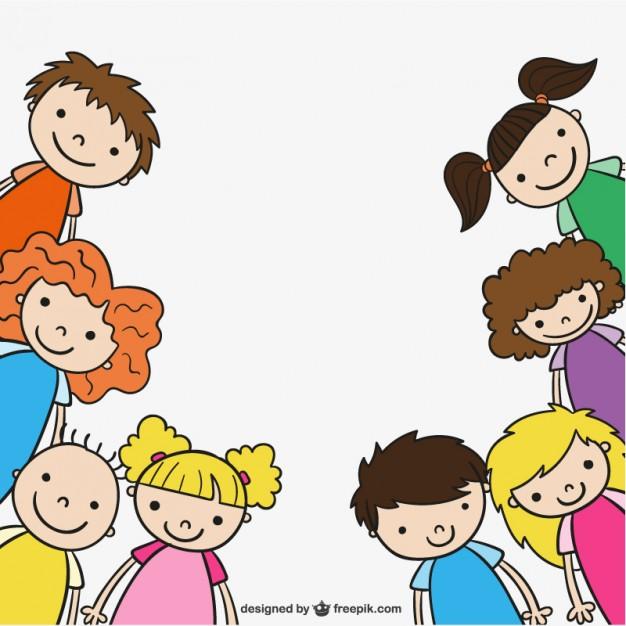 626x626 Kindergarten Children Drawing Vector Free Download