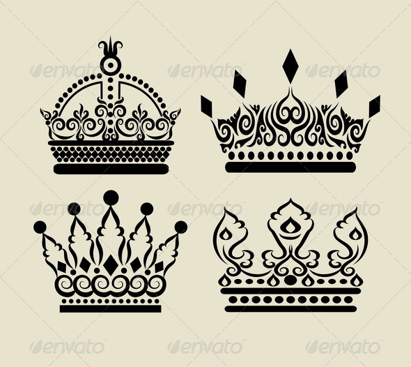 590x526 Royal King And Queen Crown Drawing Free Image